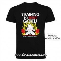 Camiseta Saiyan Training to Beat Goku
