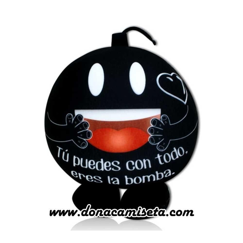"""Cojin antiestres Bomba con pies """"Tu puedes..."""""""