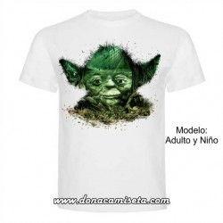 Camiseta Yoda Paisaje (Star Wars)