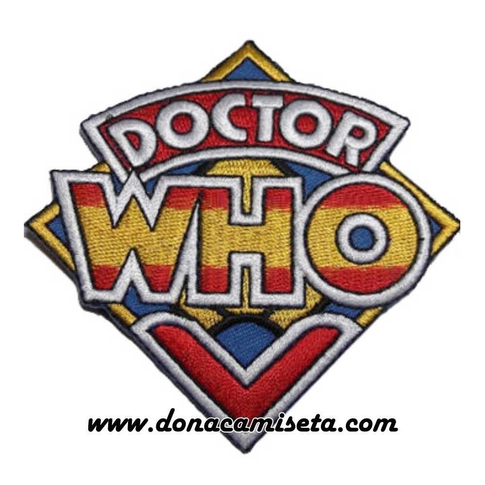 Parche Bordado Dr. Who logo