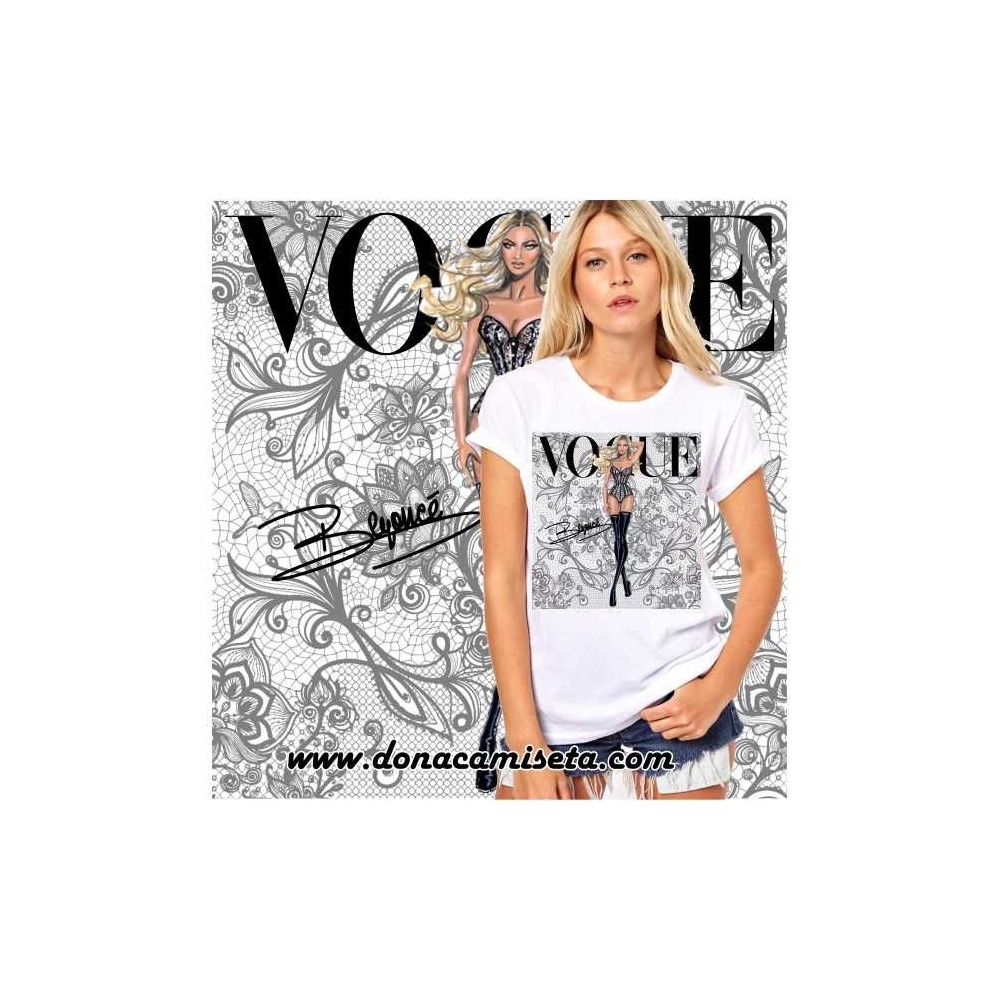 Camiseta Beyonce Vogue Encaje