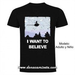 Camiseta I want to believe Goku retro