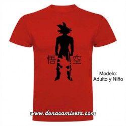 Camiseta Evolution Goku niño adulto