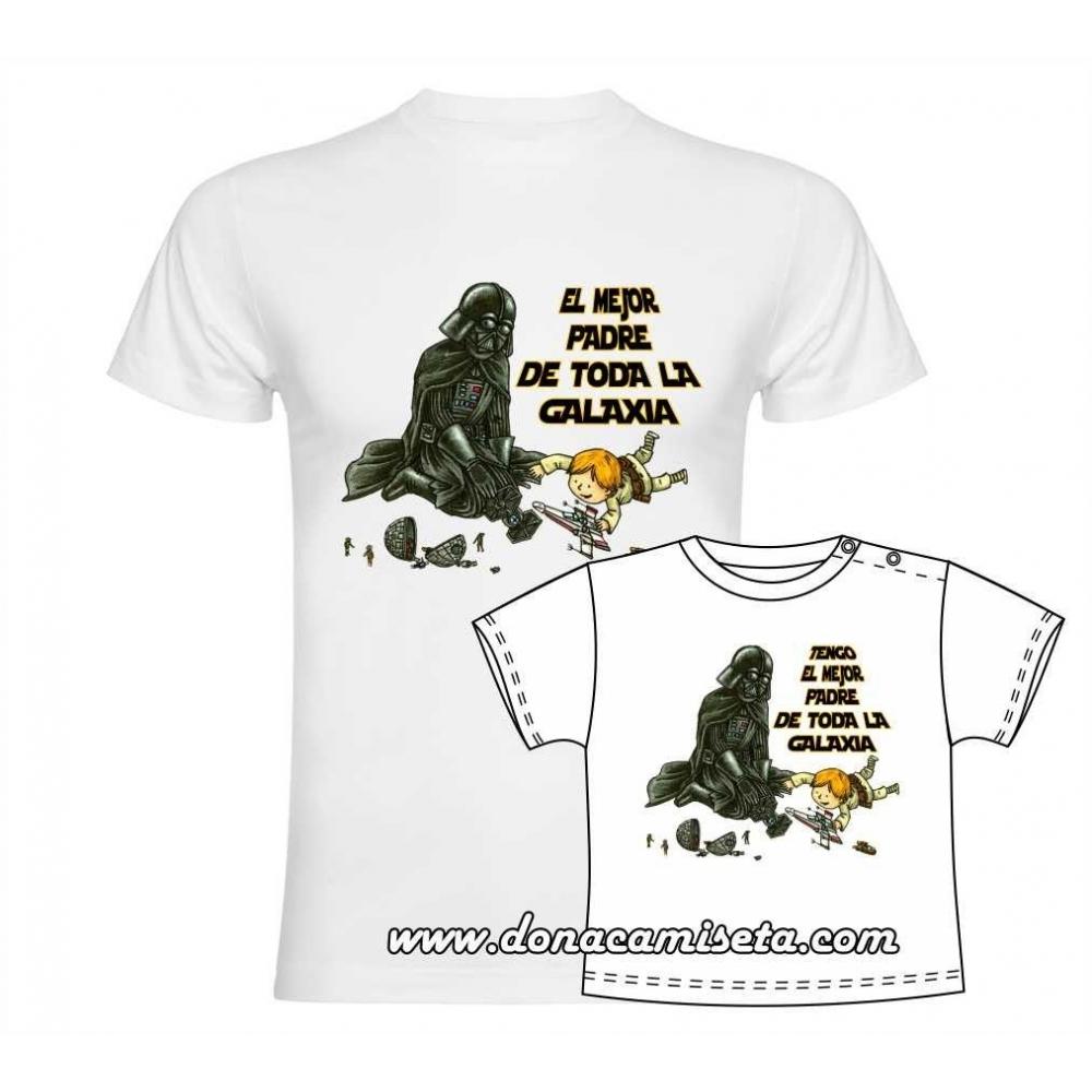 Camiseta El mejor padre de toda la Galaxia
