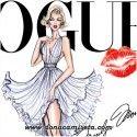 Camiseta Marilyn beso Vogue
