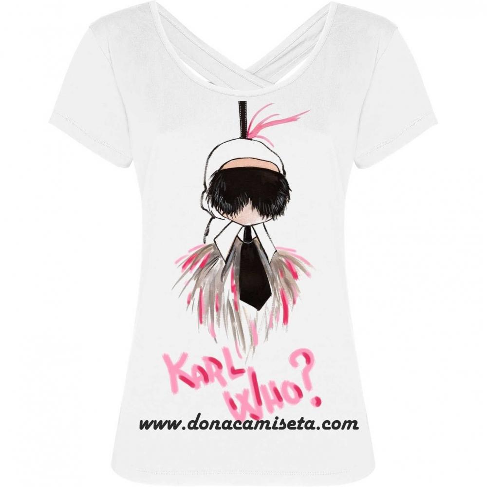 Camiseta espalda lagrima Karl Who