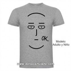 Camiseta Saitama OK (One Punch Man)