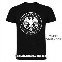Camiseta Hero Association Rank ( Nº personalizable)
