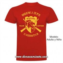 Camiseta Gryffindor Quidditch Team Captain (Harry Potter)