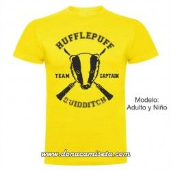 Camiseta Hufflepuff Quidditch Team Captain (Harry Potter)