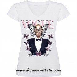 Camiseta pico Uma Thurman Vogue