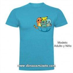 Camiseta Pokemons bolsillo