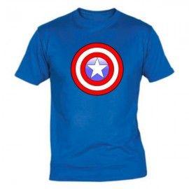 Camiseta MC Unisex Logo Capitán América