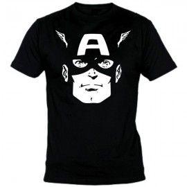 Camiseta MC Unisex Capitán América Cara