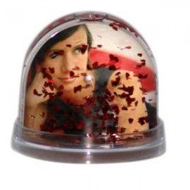 Bola de Nieve Corazones Personalizable con Foto