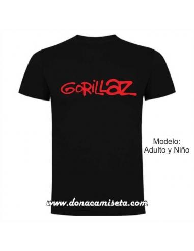 Camiseta Gorillaz logo letras