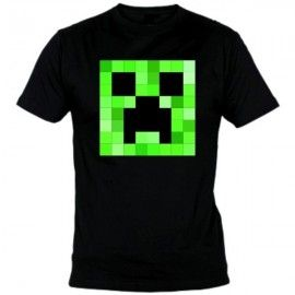 Camiseta MC Unisex Minecraft Creeper cuadrado
