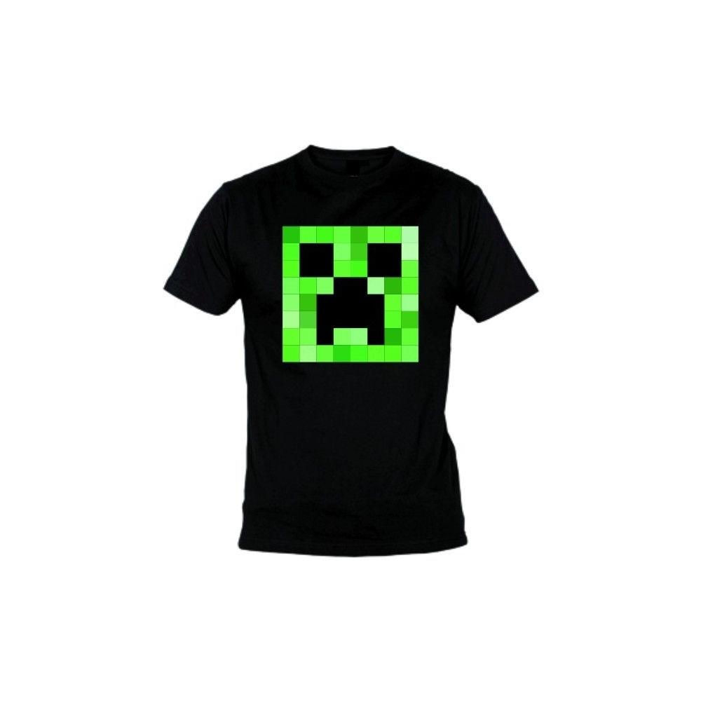 Camiseta MC Unisex Minecraft Creeper cuadrado