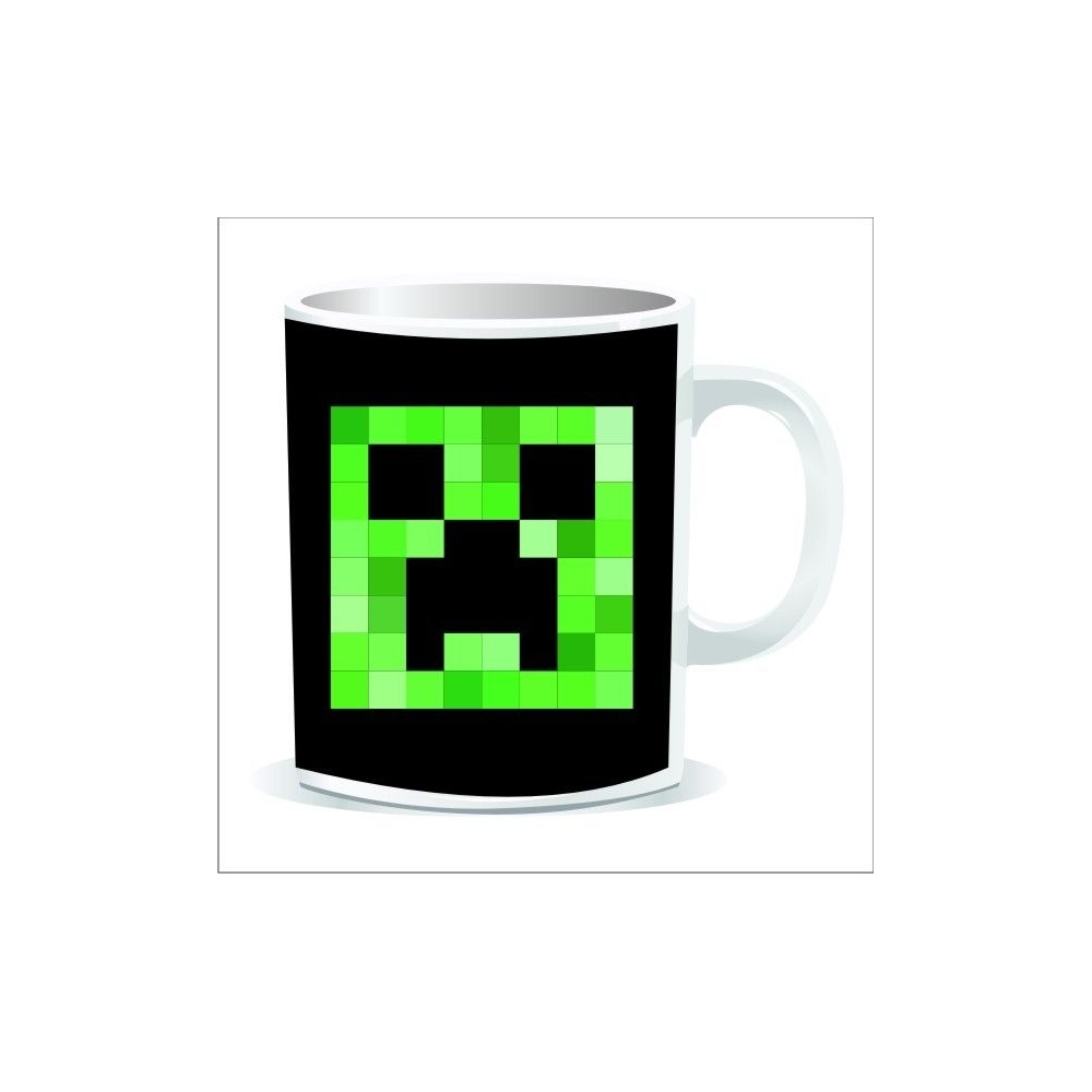 Taza Minecraft Creeper cuadrado