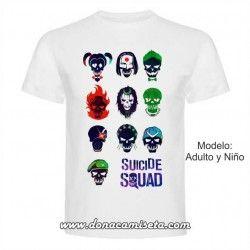 Camiseta Suicide Squad Calaveras