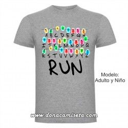 Camiseta Stranger Things Luces Run