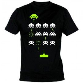 Camiseta MC Unisex Space Invaders