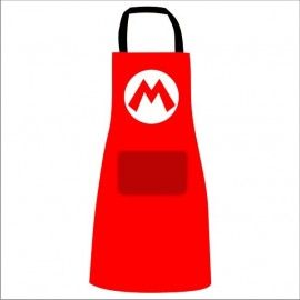 Delantal Super Mario Logo M