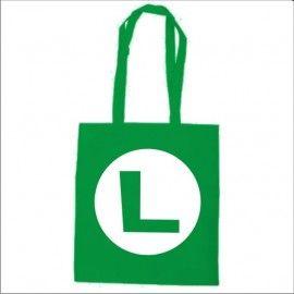 Bolsa algodón Super Mario Logo L