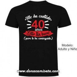 Camiseta Años para estar tan Bueno (Personalizable)