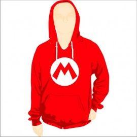 Sudadera Capucha Super Mario Logo M