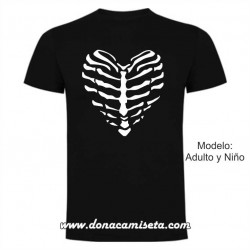 Camiseta Esqueleto Corazon