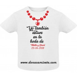 Camiseta Bebé collar Boda personalizable