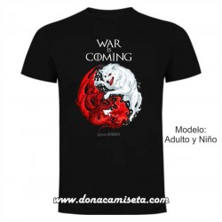 Camiseta War is Coming Stark y Targaryen (Juego de Tronos)