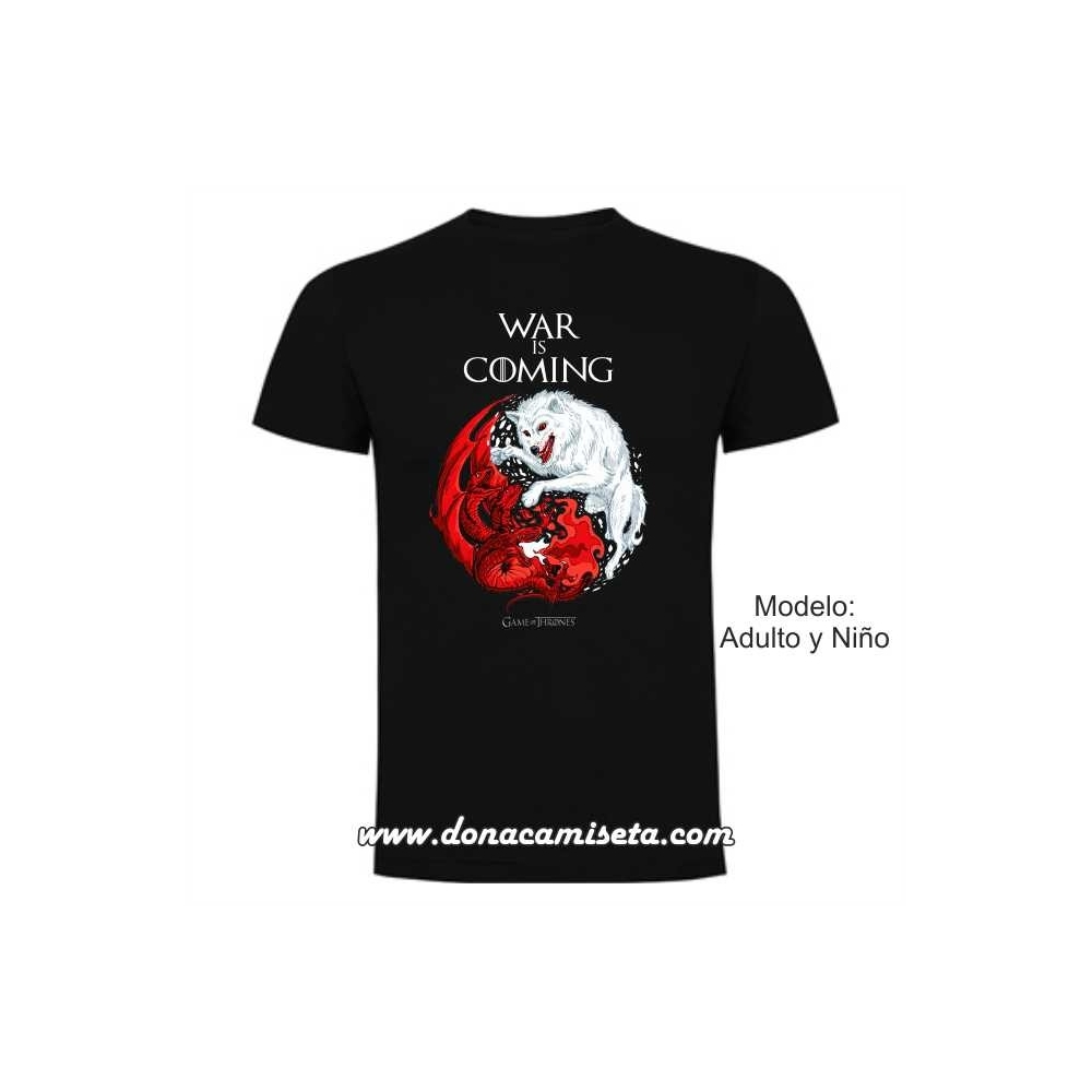 Camiseta War is Coming Stark y Targaryen (Juego de Tronos)