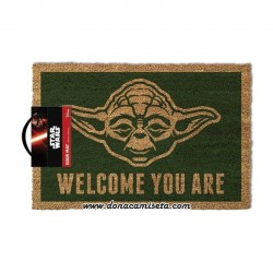 Felpudo Star Wars Yoda Welcome you are