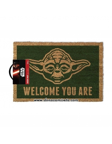 Felpudo Star Wars Yoda Welcome you are