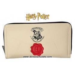 Cartera monedero carta Hogwarts (Harry Potter)