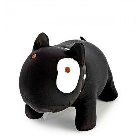 Cojin antiestres Pitbull negro 15 cm