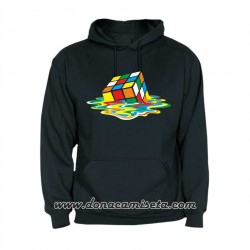 Sudadera capucha Cubo Rubik Sheldon derretido