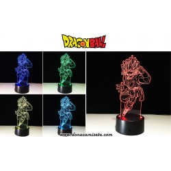Lámpara led 3D Dragon Ball Goku con control remoto