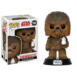 Figura Funko Pop Star Wars Chewbacca con Porg