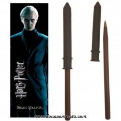 Bolígrafo Varita con Marcapáginas Draco Malfoy