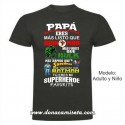 Camiseta Papá Superheroe Favorito colores