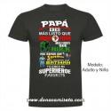Camiseta Papá Superheroe Favorito colores