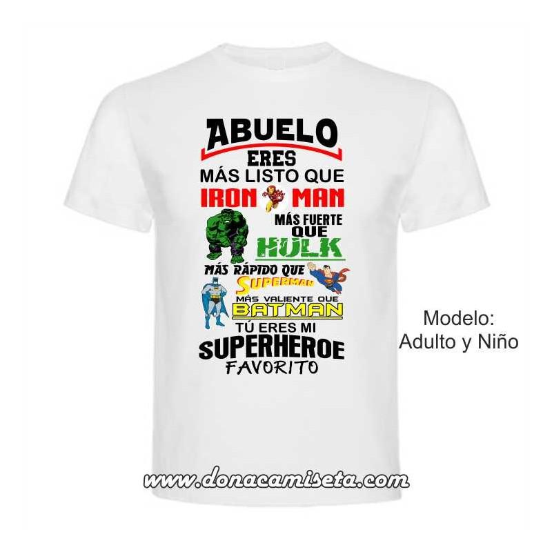 Camiseta Superheroe Abuelo Superheroe Favorito Favorito Colores Colores Camiseta Abuelo TculFK1J3