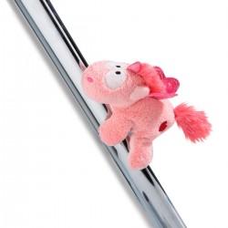 Peluche Magnético Unicornio Theodor rosa LOVE rojo 12 cm Nici