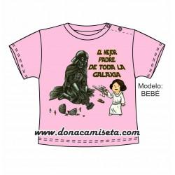 Camiseta Tengo el mejor padre de la galaxia Leia