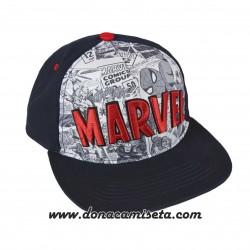 Gorra Marvel logo 3D comic visera plana premium
