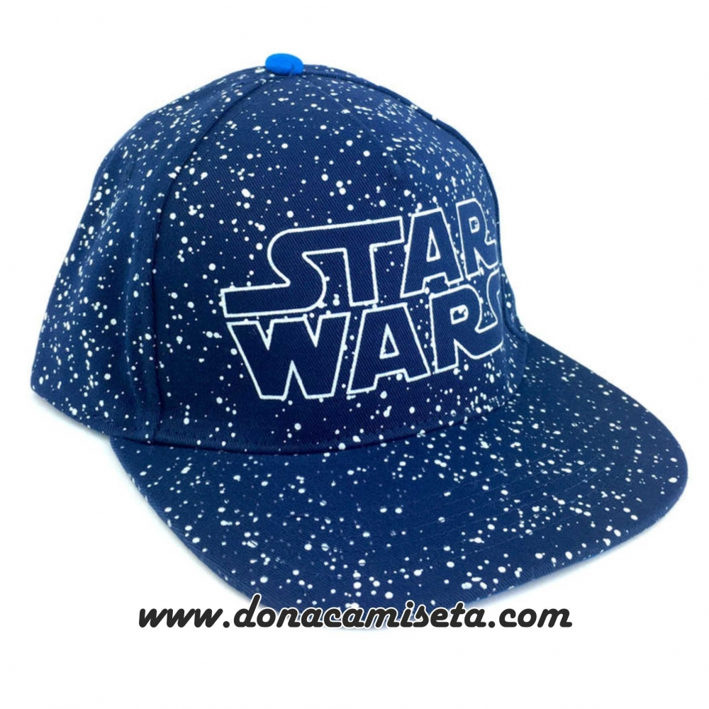 Gorra Star Wars logo estrellas galaxia visera plana premium