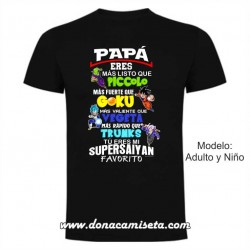 Camiseta Papá Supersaiyan Favorito colores